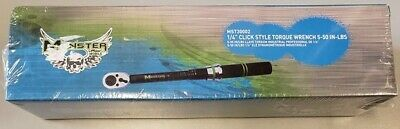 "Monster Mobile 1/4"" Click Style Torque Wrench 5-50 In-Lbs Brand New In Box"