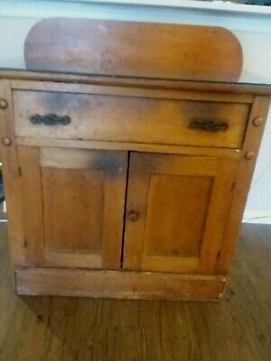 Vintage Antique  Wood Wash Stand