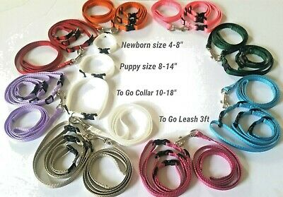 "FURBABIES Puppy ID Whelping Collars/Bands W/Matching ""To Go"" Sets!  20 + Colors!"