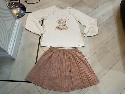 Girls Designer Mayoral Outfit Skirt & Top Age 9 Years Vgc