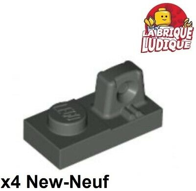 4x Charnière hinge plate plaque 1x2 locking gris//light b gray 60471 NEUF Lego