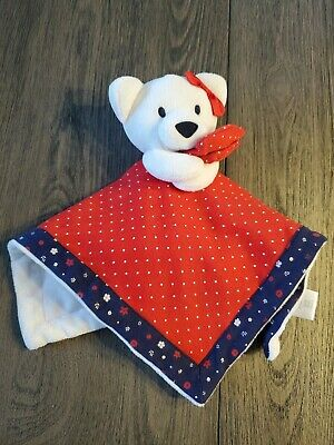 Gymboree baby lovey Red White blue Bear Security blanket  Polka Dots Flowers Bow
