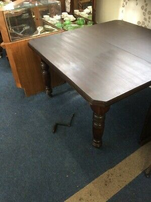 Antique Extending mahogany Dining Kitchen table Victorian Wind Out