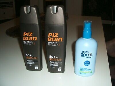 Piz Buin Factor 50 X 2 200Mls Plus Tesco Aftersun With Insect Repellant