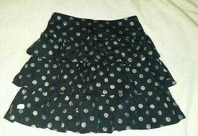New with Tags Gymboree Wild for Horses black polka dot ruffle skirt size 7