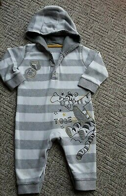 Baby Boys DISNEY hooded babygrows/sleepsuits 3-6 month VGC