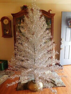 Vintage 7Ft. Aluminum Taper PomPom Christmas Tree 153 Branches Carey-McFall