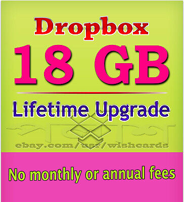 Dropbox Lifetime Upgrade ☆ 18GB Permanent Space ☆ Referral Service