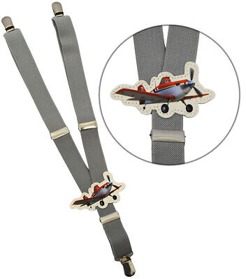 "Suspenders - "" Disney Planes - Airplane Dusty - Grey "" - 1 to 6 Years - Levels"