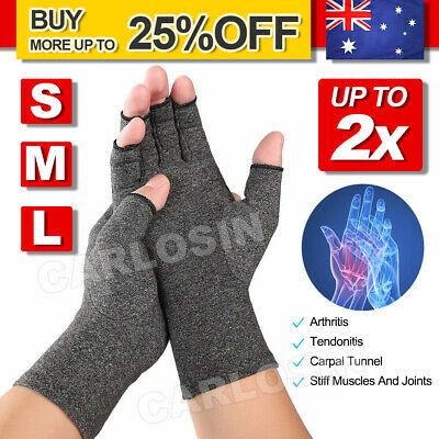 Arthritis Gloves Compression Support Hand Wrist Brace Relief Carpal Tunnel Pain