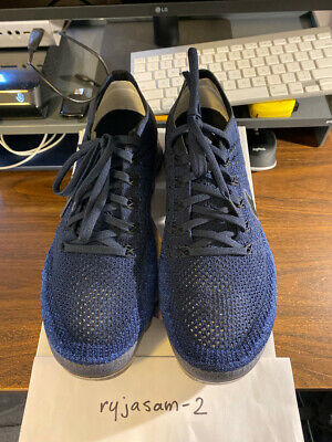 Nike Air Vapormax Flyknit College Navy 849558 400 Mens Size 9 USED