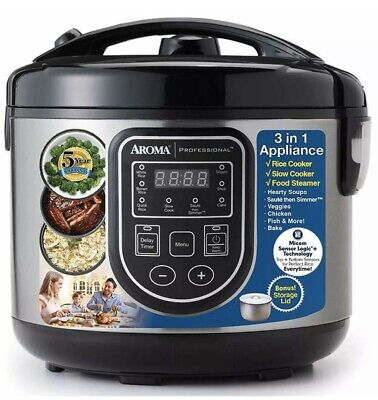 Aroma Professional Rice Cooker/Multicooker Food Steamer ARC-980SB