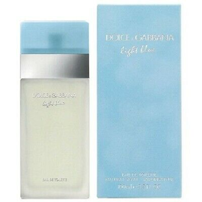 DOLCE & GABBANA LIGHT BLUE 3.3 oz/ 100 ml EAU DE TOILETTE FOR WOMEN NEW & SEALED