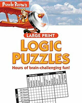 NEW - Puzzle Baron's Large Print Logic Puzzles by Baron, Puzzle