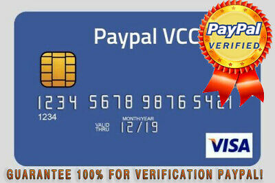 VCC For PayPal Verification |2$ Balance|Available worldwide(Fast Delivery)