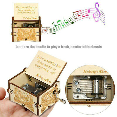 Retro Game of Thrones Harry Potter Hand Cranked Wood Music Box Christmas Gift