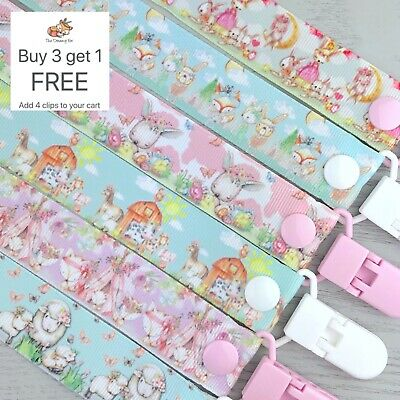 Dummy clip pacifier chain binky dummy soother baby clips gift holder animals