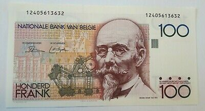 100 Francs Frank 1982-1994, KM:142a, Belgique Belgïe TTB  Choose Signature !!!!