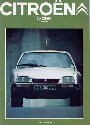 Catalogue brochure prospekt Citroën CX 1981 Diesel FR