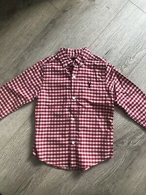 Next Red Checked Shirt Size 4 Years