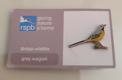 """Brand New Official /""""RSPB PIED WAGTAIL/"""" Pin Badge FREE POST//SAME DAY DISPATCH !"""