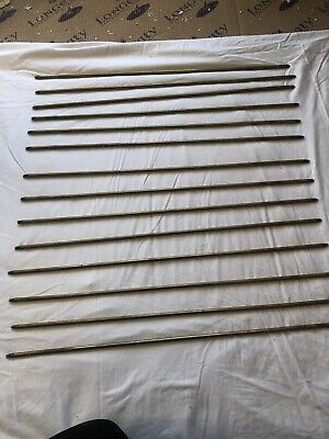 14 Victorian Brass Stair Rods