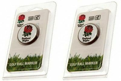 ENGLAND RFU Official Rugby Football Club Golf Ball Markers. Brand New.