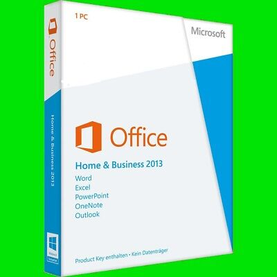 Microsoft Office 2013 Home and Business   1PC   Windows   Multilingual   Full
