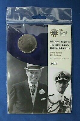"""2011 Royal Mint £5 Crown """"Prince Philip's 90th"""" in Folder - Sealed   (AH2/21)"""