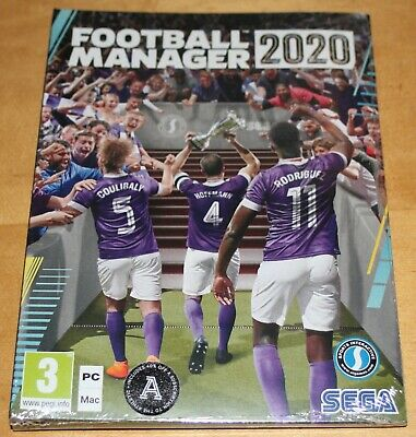 Football Manager 2020 Pc. Brand New & Sealed. Free Rec'd Delivery Postage Uk.