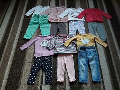 69Gg Baby Girls 9-12 Months  Large Winter Clothing Bundle Tops Bottoms