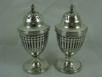 SMART pair solid silver PEPPERS, 1910 - Chester