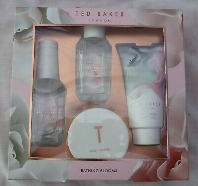 New Ted Baker Four Piece Bathing Blooms Gift Set