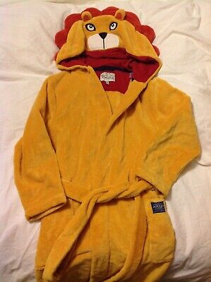 Joules Lion fleece dressing gown Age 9-10 years