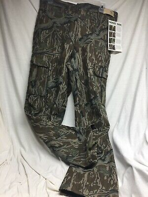 Men Haas Genuine Mossy Oak Camouflage Camo Cargo Hunting Outdoors Pants Cotton L