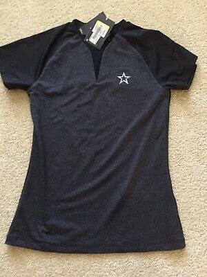 NFL Dallas Cowboys Nike Women's DRI-FIT V-Neck Slit Small - Charcoal/Black New