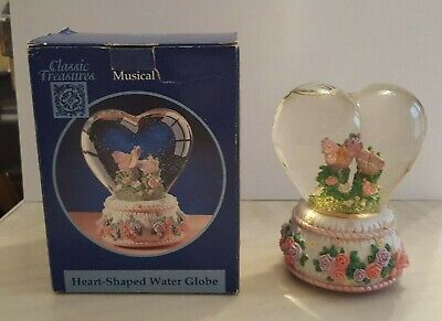 "Classic Treasures Musical Heart-Shaped Water Snow Globe ""Endless Love"""
