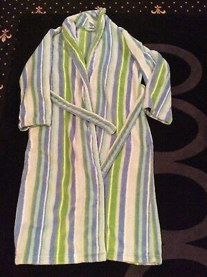 Cheressi Gents Stripe Dressing Gown Small