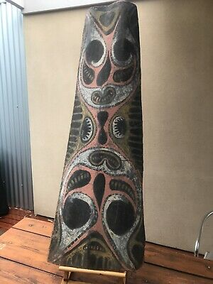 Large Early Abelam Bark Painting depicting Spirit Figures - Papua New Guinea
