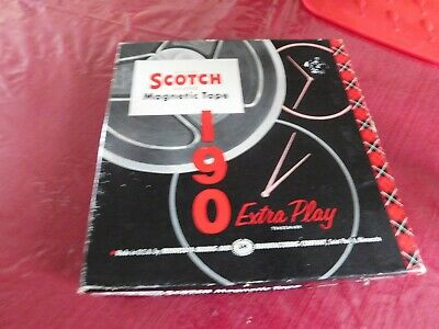 Vintage 1957 Scotch Magnetic Tape Home Movie type with tin 190 minutes play