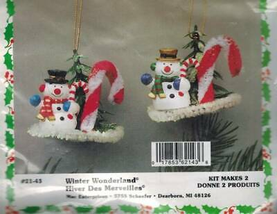 "/""Winter Wonderland/"" kit makes 1   Bead Sequin Ornaments Christmas Snowman"