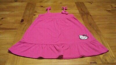 Used Girls Size 6X Sanrio Hello Kitty Hot Pink Terry Dress Cover Up