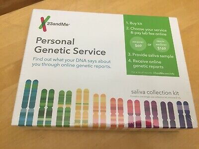 23andMe DNA Test - Health and Ancestry Saliva Collection Kit Exp: June 2020