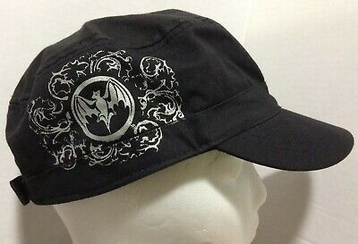 Bacardi 1862 Bat Logo Adult Black Cadet Cap Hat