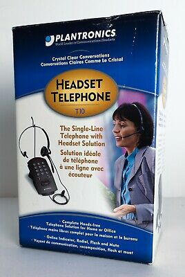 Plantronics T10H Telephone with U10P QD Cable for your own H /& HW series Headset