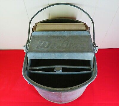 3-Gallon Behrens Manufacturing Company 412W Behrens Galvanized Mop Bucket with Rollers