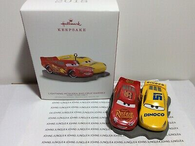 Lightning Mcqueen And Cruz Ramirez Hallmark.ornament 2018 Disney Pixar Cars 3