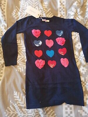 BNWT absolutely gorgeous girls knitted heart dress by BILLIEBLUSH in size 4 yrs