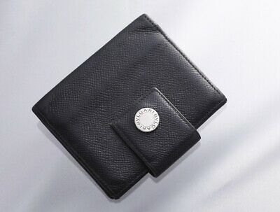 H7523M BVLGARI Classico Genuine Leather Card Mini Agenda Notebook Cover