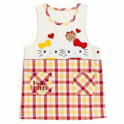 Hello Kitty orchid type apron check Free Shipping with Tracking# New from Japan